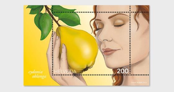 Quince Scent - (M/S Mint) - Miniature Sheet