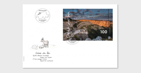 Creux du Van - First Day Cover