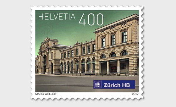Swiss Railway Stations 2017 - (Stamp Mint) - Set