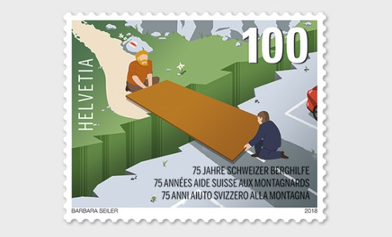 75 Years Swiss Mountain Aid - (Stamp Mint) - Set