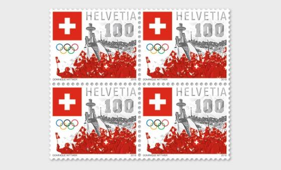 Swiss Olympic 2018 - (Block of 4 Mint) - Block of 4