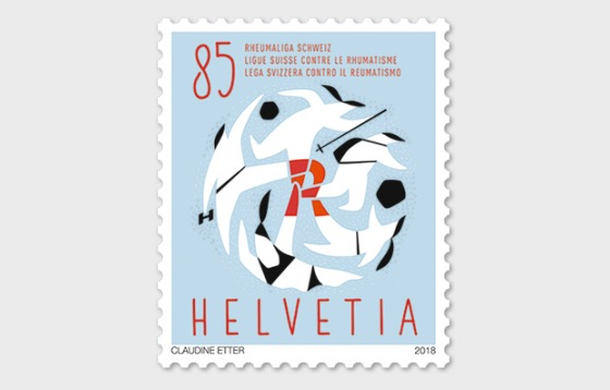 60 Years Swiss League Against Rheumatism - (Stamp Mint) - Set