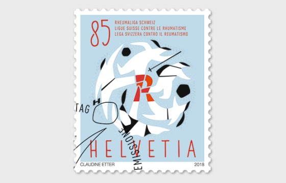 60 Years Swiss League Against Rheumatism - (Stamp CTO) - Set CTO