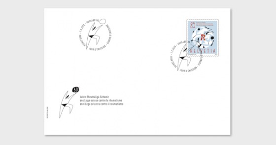 60 Years Swiss League Against Rheumatism - (FDC Stamp) - First Day Cover