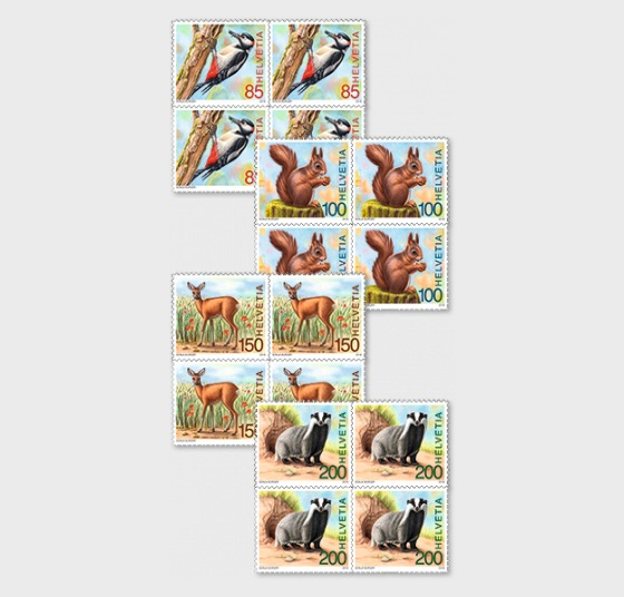 Animals of the Forest - (Block of 4 Mint) - Block of 4