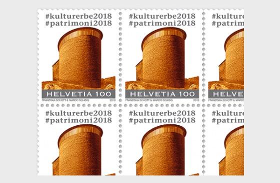 #culturalheritage2018 - (Sogn Benedetg Chapel, Surselva Sheet Mint) - Full sheets