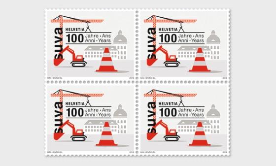 100 Years Suva - (Block of 4 Mint) - Block of 4