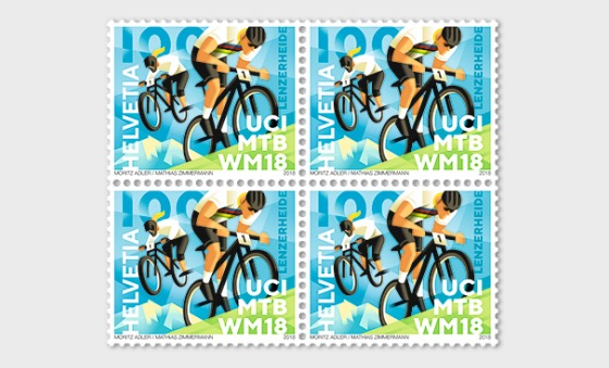 UCI MTB World Championships 2018 - (Block of 4 Mint) - Block of 4