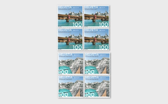 Europa 2018 - Bridges - (Block of 4 Mint) - Block of 4