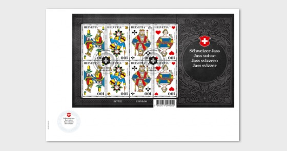 Swiss Jass - (FDC Sheetlet) - Collectibles