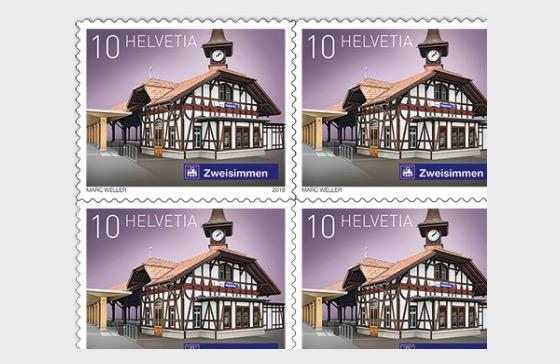 2018 Swiss Railway Stations - (Sheetlet Mint - Zweisimmen) - Sheetlets