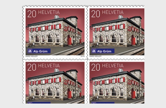 2018 Swiss Railway Stations - (Sheetlet Mint - Alp Grüm) - Sheetlets