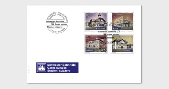 2018 Swiss Railway Stations - (FDC Set) - First Day Cover