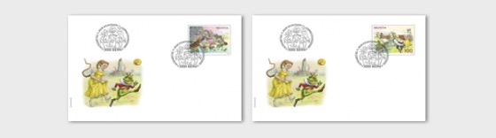 Fairy Tales - (FDC Single Stamp) - First Day Cover single stamp