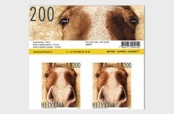 Animal Friends - Horse Sheetlet 10 Stamps Mint - Sheetlets