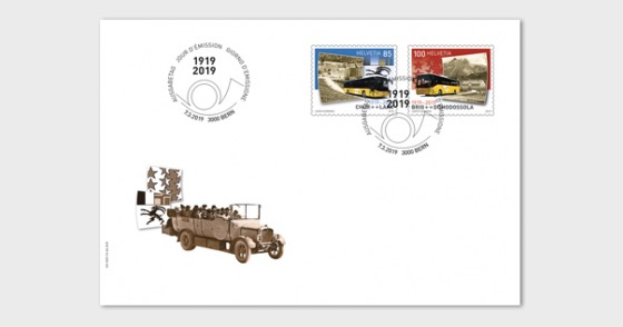 100 Years Postbus Routes - FDC Set - First Day Cover