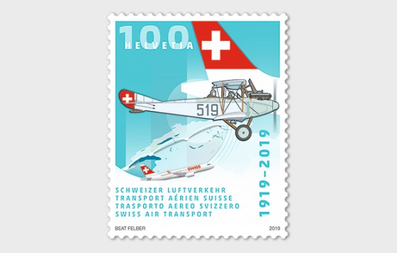1919–2019 Swiss Air Transport - Mint - Set