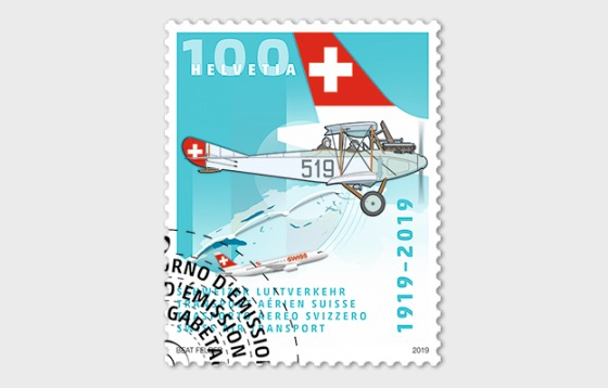 1919–2019 Swiss Air Transport - CTO - Set CTO