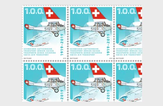 1919–2019 Transport Aérien Suisse - Feuilles entières