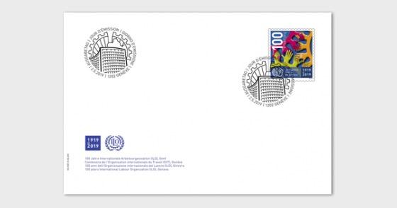 Centenaire de l'Organisation interna- Tionale du Travail (OIT), Genève - Enveloppes de Premier Jour