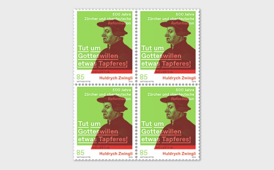 Huldrych Zwingli - 500 Years Reformation in Zurich & Southern Germany - Block of 4 Mint - Block of 4