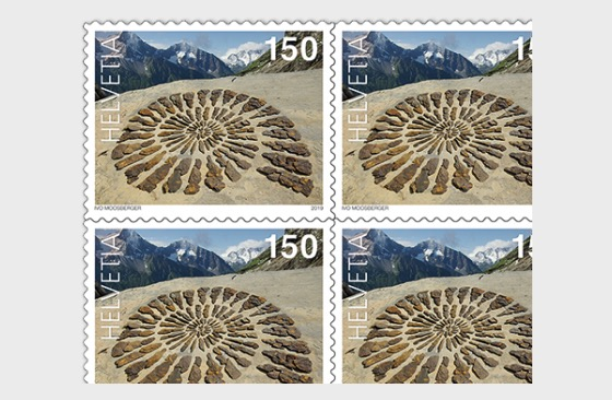 Land Art - Stone Spiral, Uri - Sheetlet Mint - Sheetlets