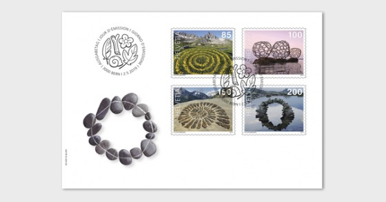 Land Art - FDC Set - First Day Cover