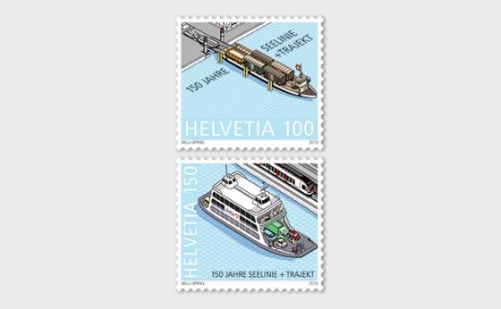 150 Years Lake Line + Train Ferry - Set Mint - Set