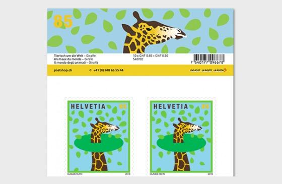 Animals Around the World - Sheetlet Mint - Giraffe - Sheetlets