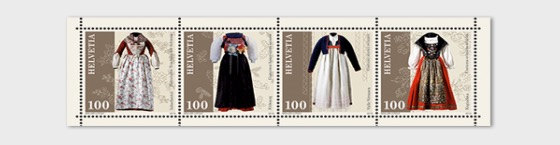Traditional Swiss Costumes - M/S Mint - Miniature Sheet