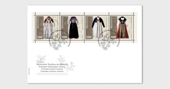 Traditional Swiss Costumes - First Day Cover
