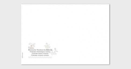 Traditional Swiss Costumes - Cover C6 - FDC without stamp