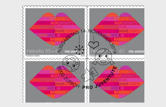 Pro Juventute – 30 Years Children's Rights - Sheetlet x10 Stamps CTO - Listening - Sheetlets CTO
