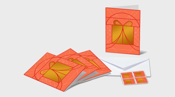 Christmas 2019 - Set of 4 A6 Folded Cards - Gift - Collectibles