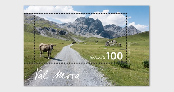 Typical Swiss Countryside - Val Mora - M/S Mint - Miniature Sheet