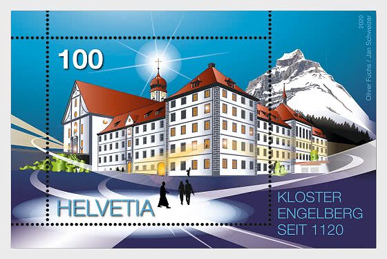 900 Years Engelberg Monastery - M/S Mint - Miniature Sheet