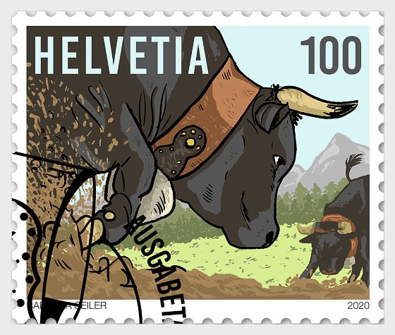 100 Years Swiss Federation of Live-Stock Farming of the Hérens Breed - CTO - Set CTO