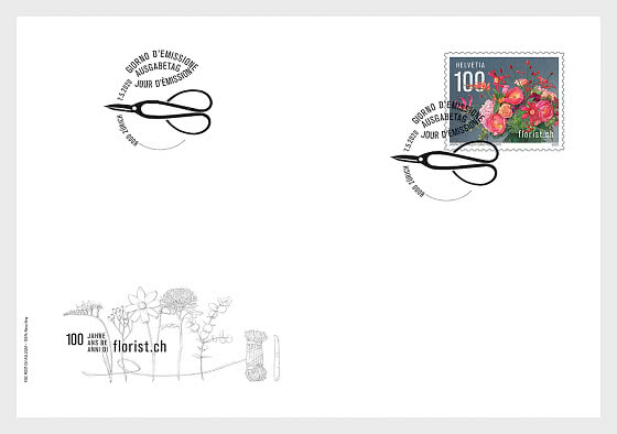 100 Years Florist.ch - FDC Set - First Day Cover