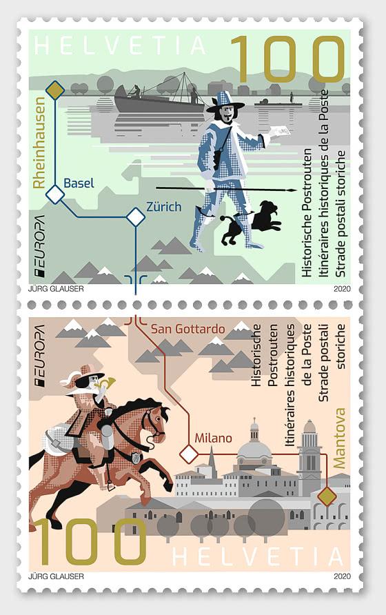 Europa 2020 – Ancient Postal Routes - Set Mint - Set