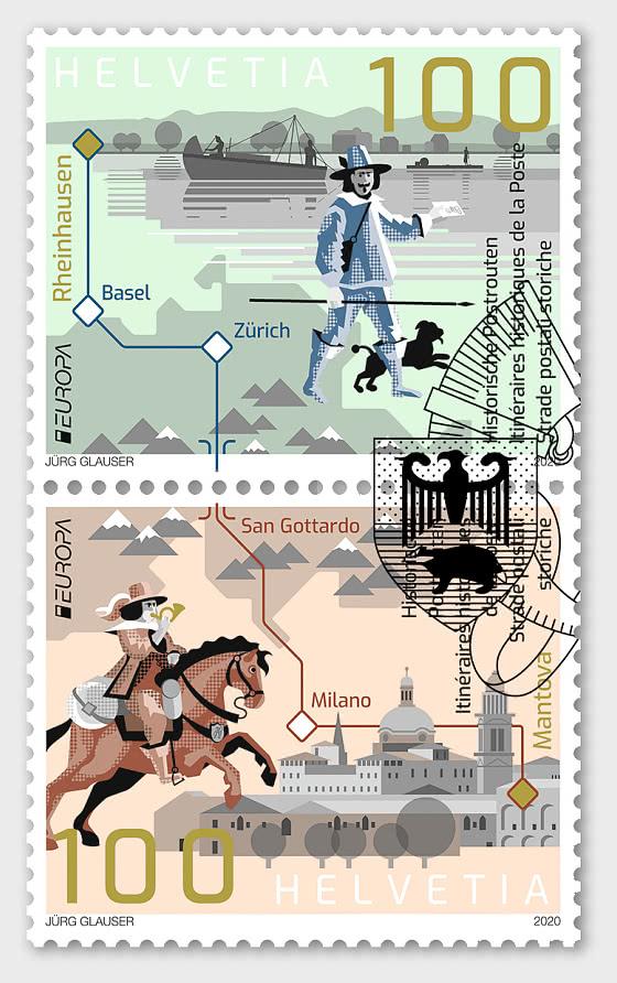 Europa 2020 – Ancient Postal Routes - Set CTO - Set CTO