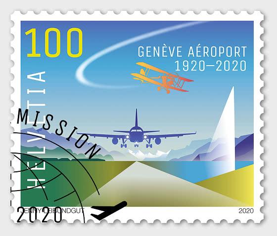100 Years Geneva Airport - Set CTO - Set CTO