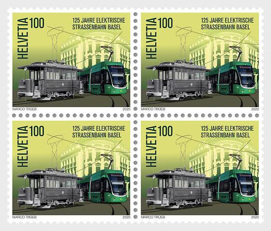 125 Years Basel Electric Tram - Block of 4 Mint - Block of 4