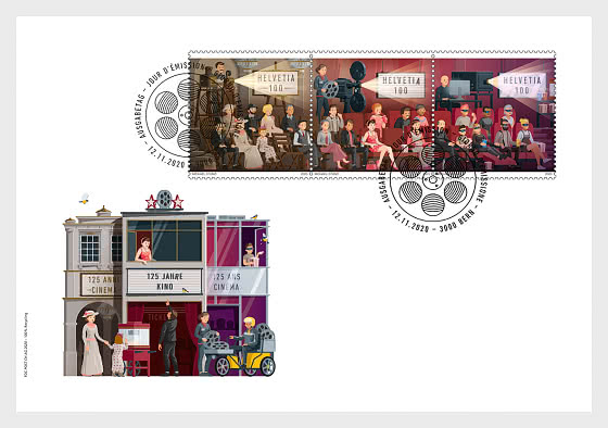 125 Years Cinema - FDC Set - First Day Cover