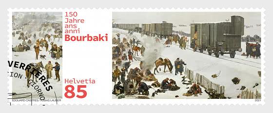 150 Anni Di Internamento Dell'esercito Di Bourbaki - Serie CTO
