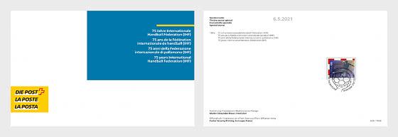 75 Anni della Federazione Internazionale di Pallamano (IHF) - Collezionabile CTO