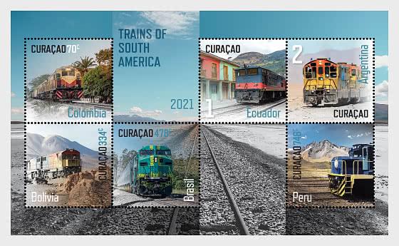 Trains of South America - Miniature Sheet