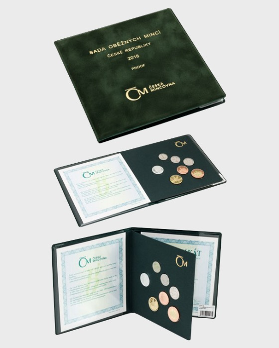 Set of circulation coins 2018 proof - suede case - Coin Year Set