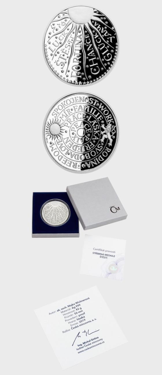 Silver medal Good Luck - Medal