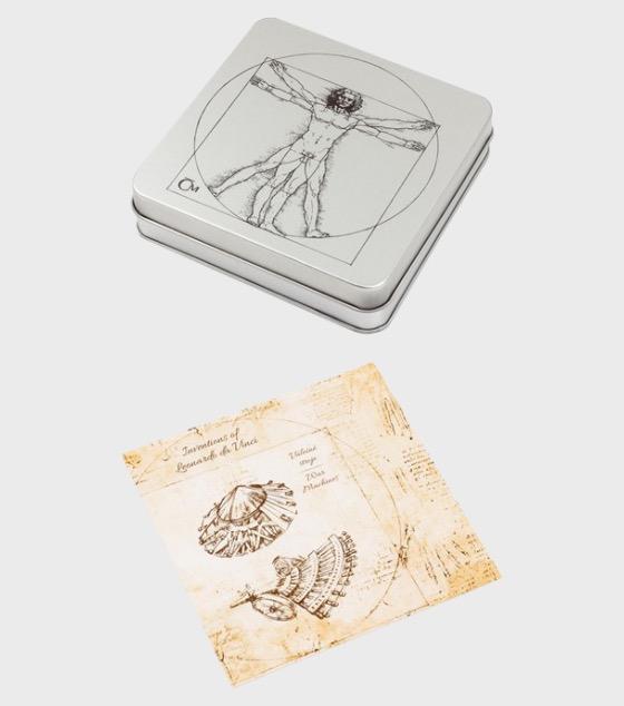 Collector´s case for 4 silver coins of Inventions of Leonardo da Vinci - Commemorative