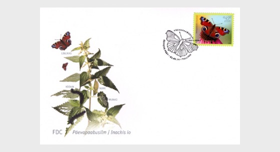 The European Peacock Butterfly - First Day Cover